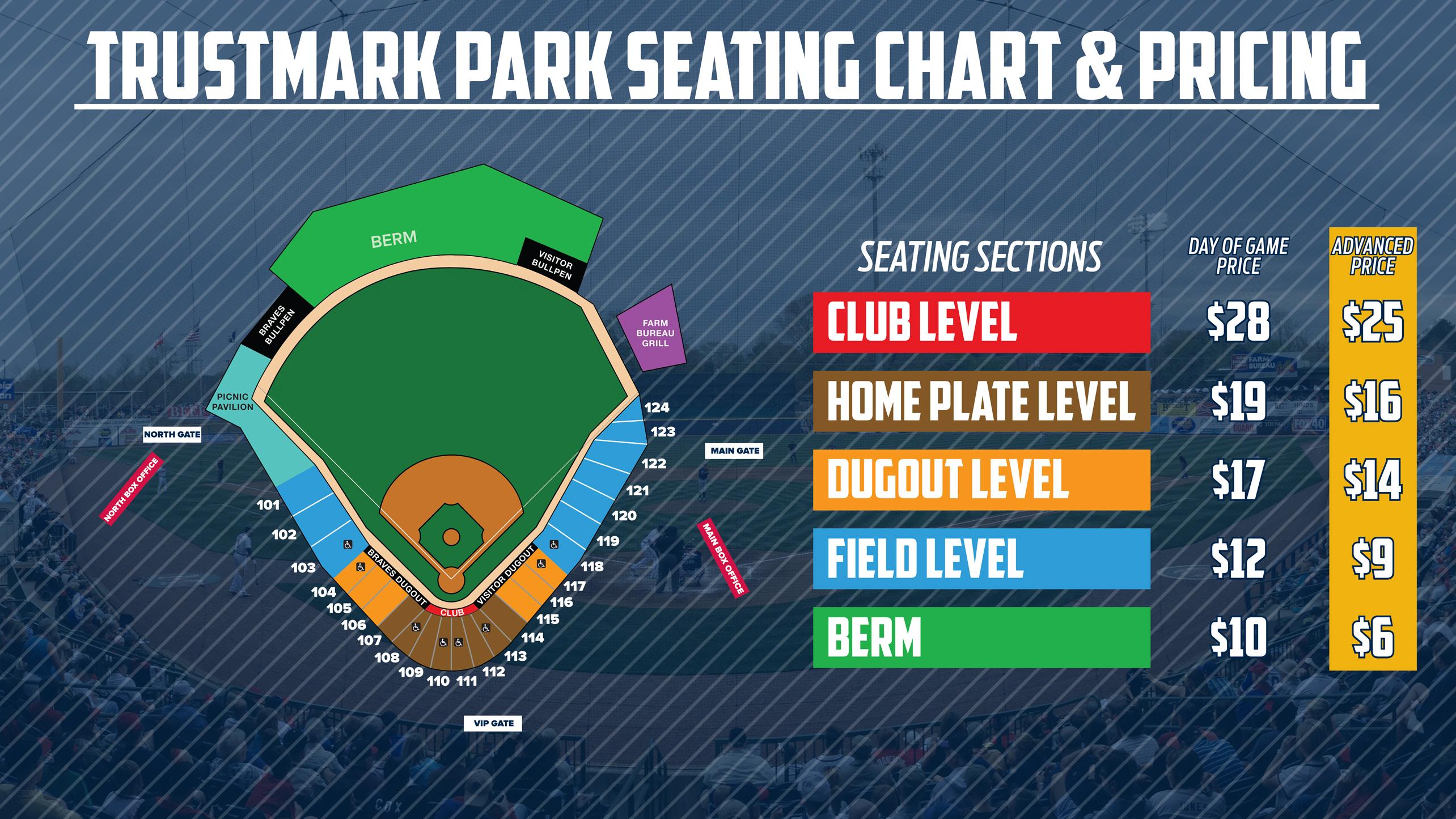 Trustmark Park Seating Chart Braves