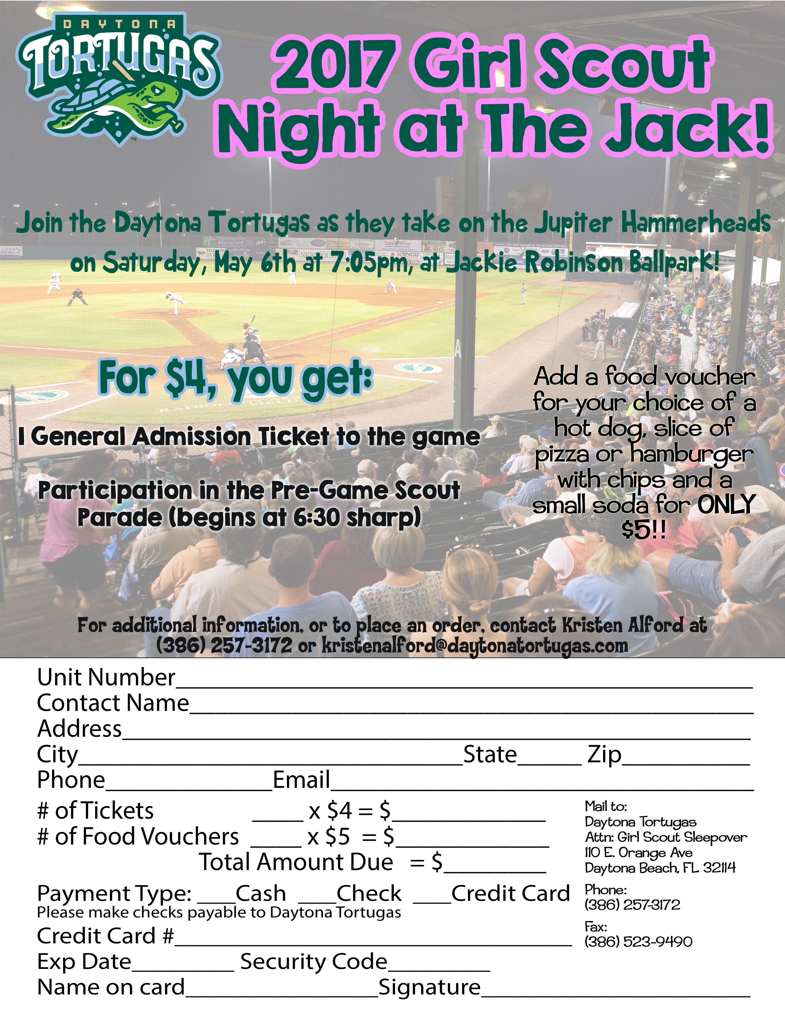 2017 Girl Scout Night | Daytona Tortugas Groups