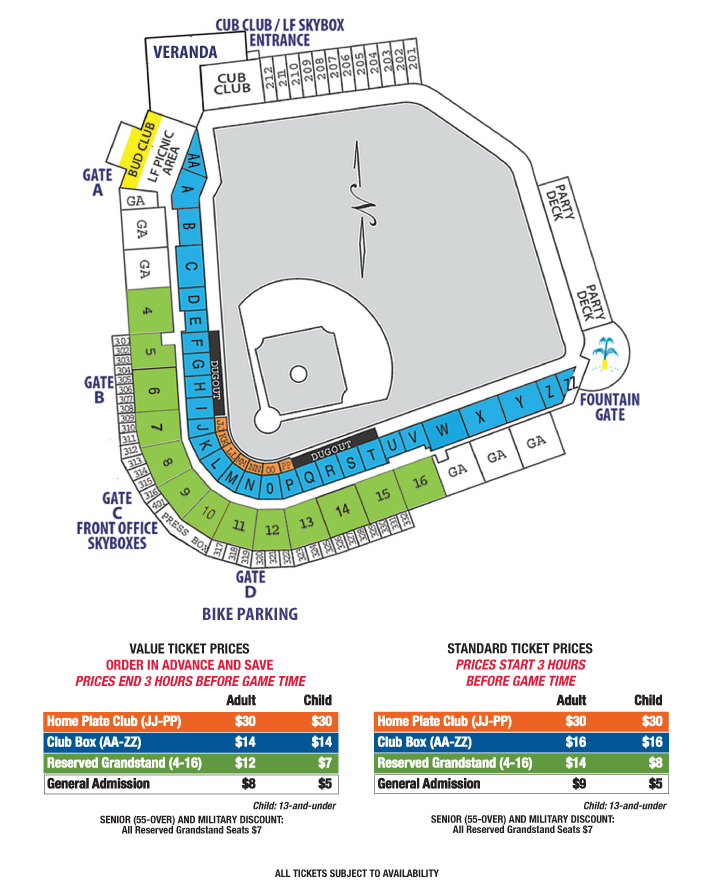 cubs seating chart: Ticket options iowa cubs tickets