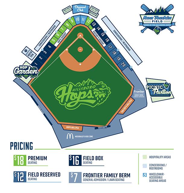 Seating Chart | Hillsboro Hops Tickets