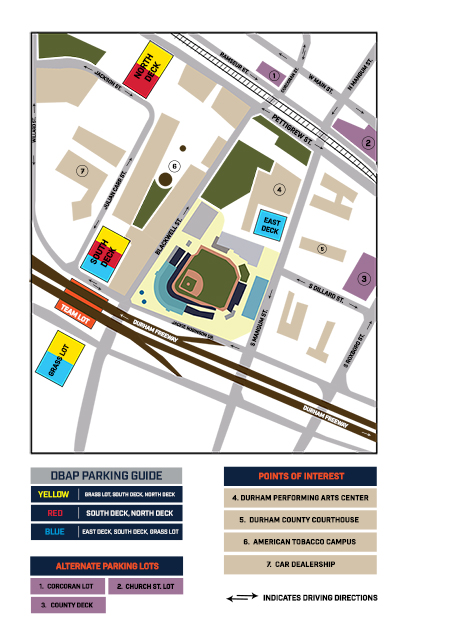 Parking Durham Bulls Gameday