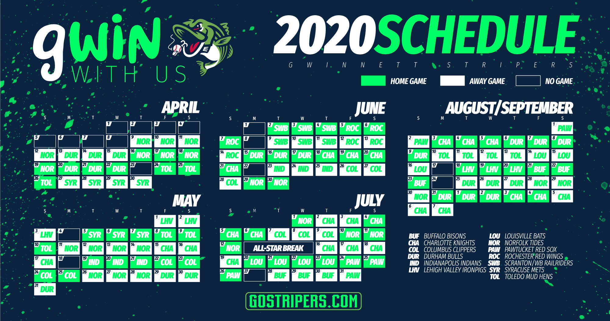 Railriders Schedule 2020 Gwinnett Stripers Announce 2020 Schedule Dates | Gwinnett Stripers