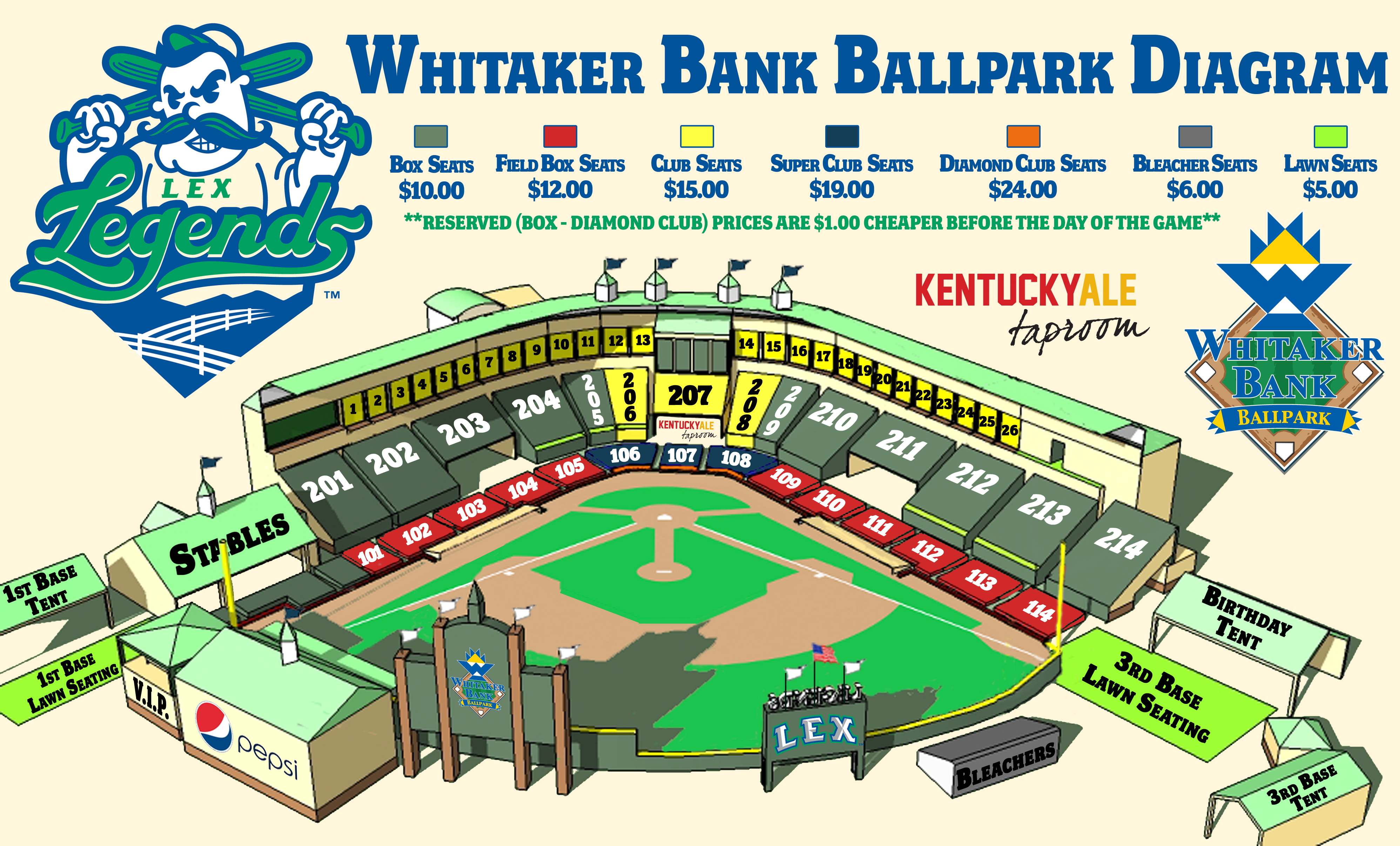 Whitaker Bank Ballpark Lexington Legends