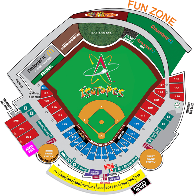 Seating Map | Albuquerque Isotopes Isotopes Park
