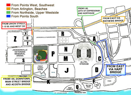 Directions  Jacksonville Suns Baseball Grounds