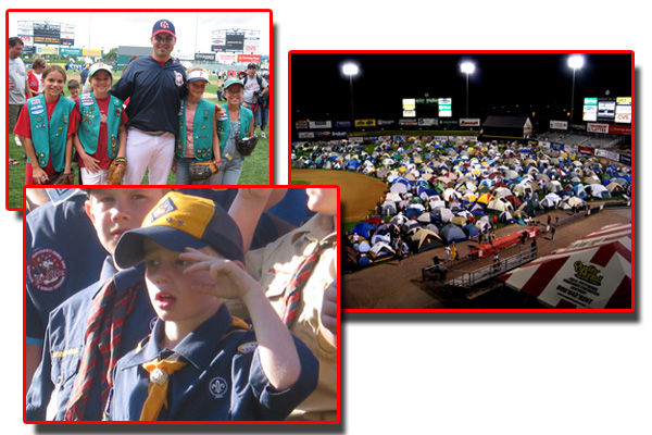 Scout Sleepovers Pawtucket Red Sox Kids Club