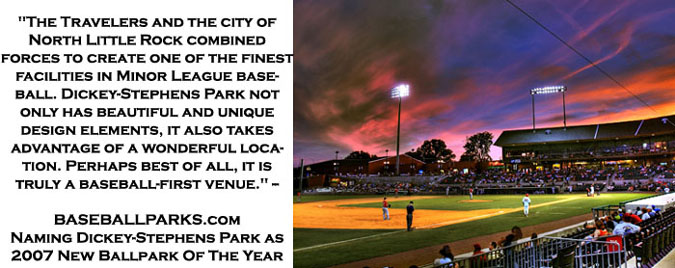 Dickey Stephens Park Arkansas Travelers Ballpark