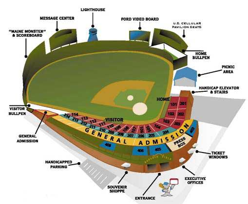 Us Cellular Field Parking Map Parking At US Cellular Coliseum The - Us cellular field map