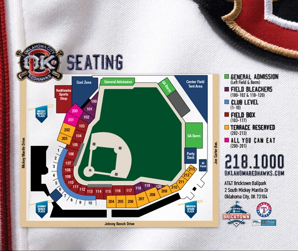 Seating Map Oklahoma City Dodgers Ballpark