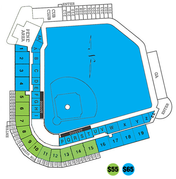 Seating chart for dmb concert iowa cubs tickets