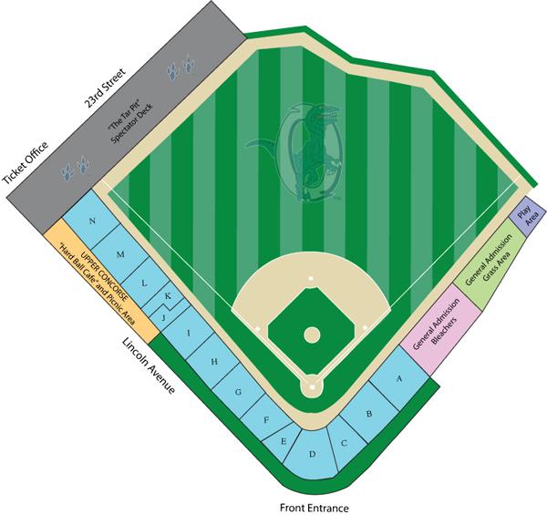 Seating Diagram Ogden Raptors Lindquist Field
