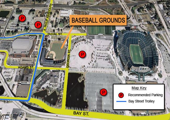 Parking  Jacksonville Jumbo Shrimp Baseball Grounds