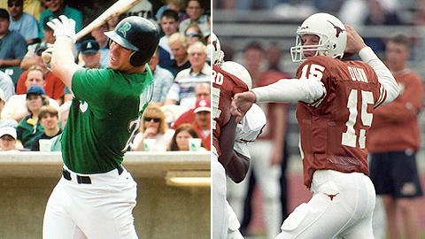 Adam Dunn played college football in 1998 while in the Minors.