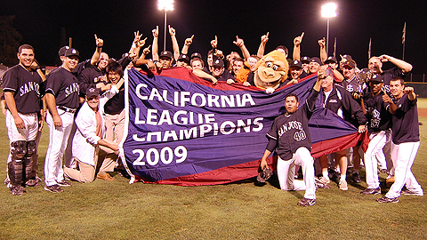 The league-champion Giants were honored with MiLB's top award on Tuesday.