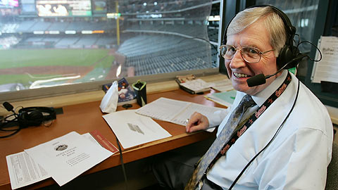 Milo Hamilton has been broadcasting Major League Baseball since 1953.