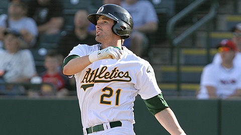 Oakland's Grant Desme was the Minors' only 30-30 man in 2009.