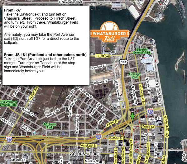 Directions Corpus Christi Hooks Whataburger Field - Whataburger us map
