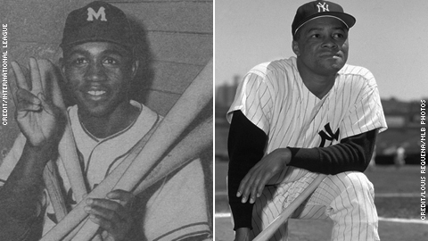 Jim Gilliam (left) and Elston Howard proved themselves in the Minor Leagues.