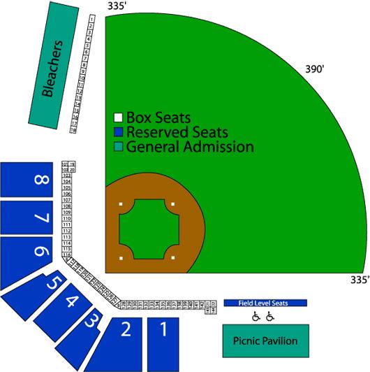 Stadium seating down east wood ducks community