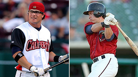 Jon Gaston (l) and Koby Clemens led the Minors in homers and RBIs, respectively, last year.