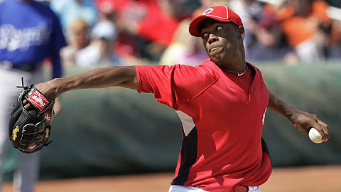 Cuban left-hander Aroldis Chapman will bring his 100 mph fastball to Louisville.