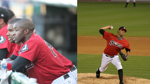 John Shelby III and Jhonny Nunez return to the Barons in 2010.