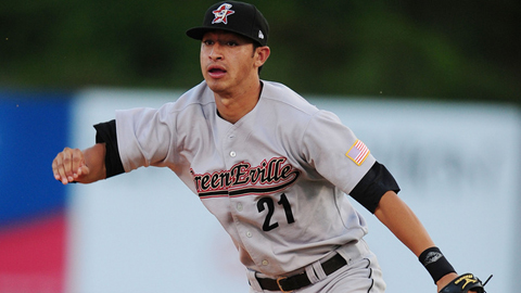 Jiovanni Mier had an .864 OPS in his debut season at Greeneville.
