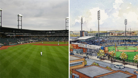 Two new stadiums have joined the Minor League landscape.