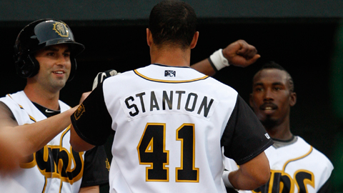 Mike Stanton ranks among the Southern League leaders in six categories.