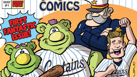 The Lake County Captains will hand their inaugural comic book issue May 1.