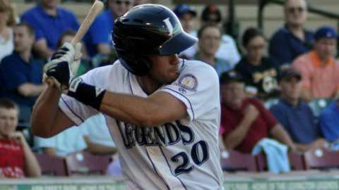 J.D. Martinez leads the South Atlantic League with a .353 batting average.