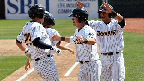 Brandon Laird's fifth-inning homer put Trenton on top for good Sunday.