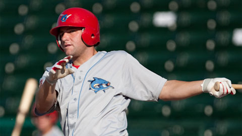 Clearwater's Cody Overbeck leads the FSL in home runs and RBIs.