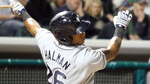 Greg Halman is tied for the Tacoma team lead with nine homers.