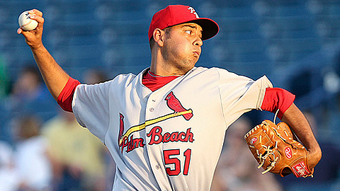 Brian Broderick is 2-0 with a 2.57 ERA in two starts for Springfield.