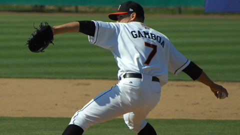 RHP Eddie Gamboa notched his second win of the season in three innings of scoreless relief on Friday.