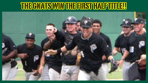 SS Wilmer Flores (#4) Leads the Jubilant Gnats' Championship Celebration
