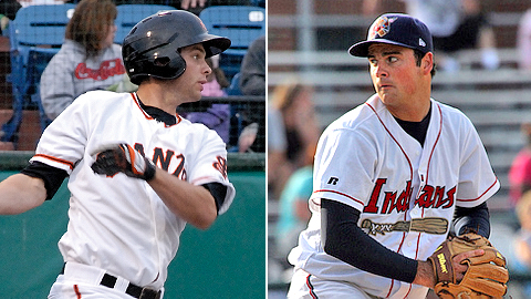 Brandon Belt and T.J. McFarland will square off on Tuesday in Myrtle Beach.