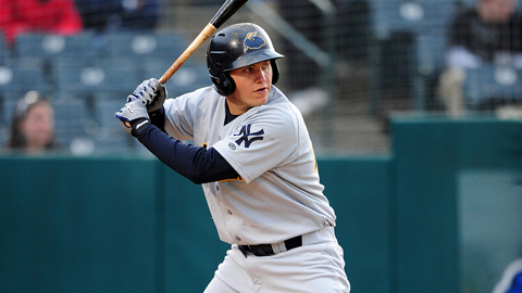 Trenton's Brandon Laird leads the Minor League's in RBIs.