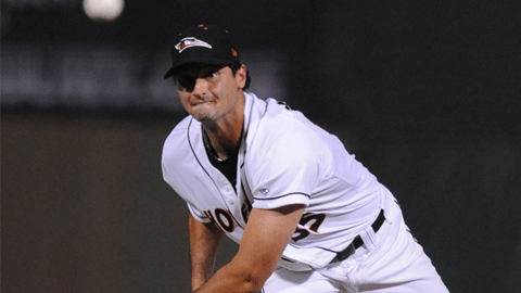 Left-hander Nathan Moreau posted a 1.88 ERA in seven starts for Delmarva.