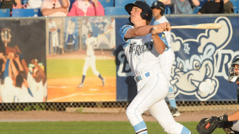 Wil Myers had three hits in his Wilmington Blue Rocks debut on Thursday night.