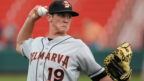 Michael Ohlman appeared in 34 games for Delmarva to open the season.