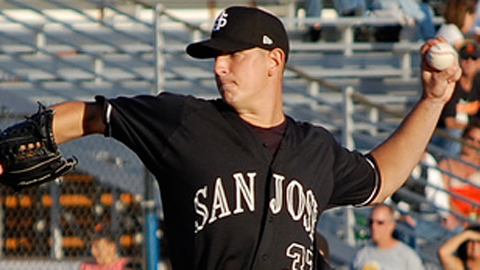 Eric Surkamp is third in the California League with 96 strikeouts.