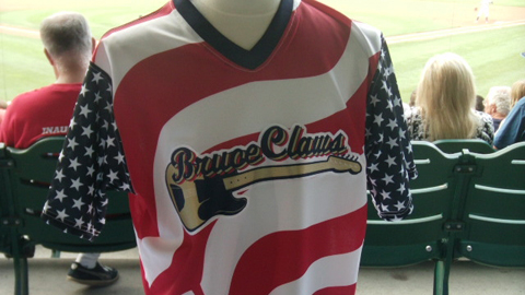 The BruceClaws jerseys were auctioned after the game for charity.