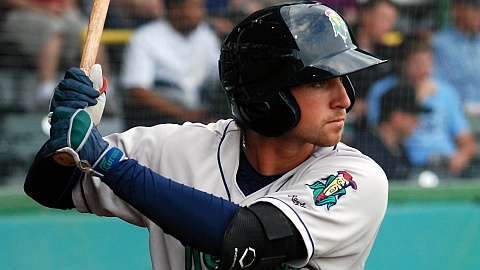 Jon Karcich homered, singled and walked in the Kernels' seventh inning.
