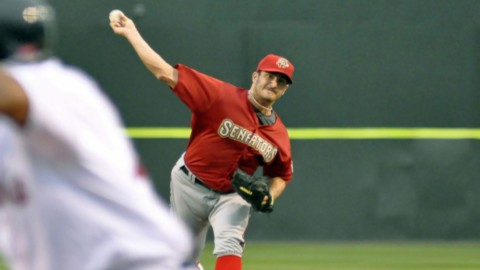 Jason Marquis made a MLB rehab start against the Sea Dogs on Friday night.