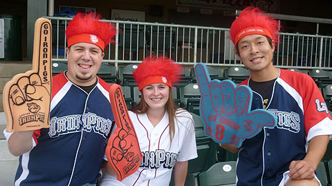 The IronPigs will enable 3,500 fans to sport flourescent orange spiked wigs.