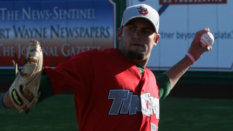 Nick Greenwood was the TinCaps' opening-night starter this season.