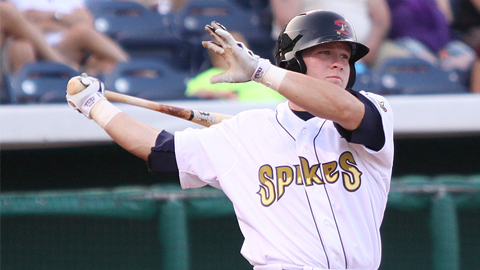 Matt Curry drove in the game-winning run in the Spikes' victory.