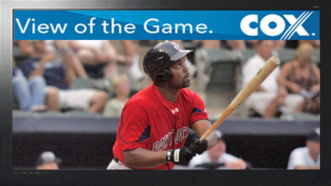 Carlos Delgado went 0 for 3 in his PawSox debut.